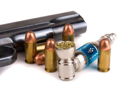 Guns bullets weed